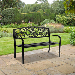 50 Wrought Iron Sofa Chair Outdoor Bench Balcony Living Room Double Chair Park Chair Leisure Garden Table And Chair