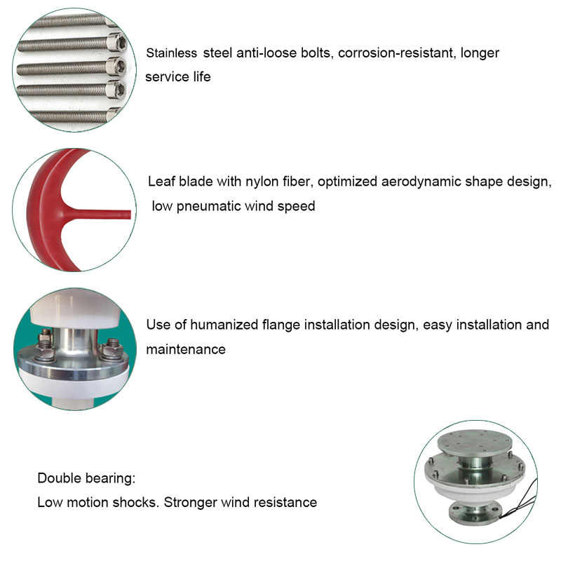 6000W 12V 24V 4 bıçakları fener dikey eksenli rüzgar türbinleri jeneratör motoru ile denetleyici açık melezleri elektromanyetik
