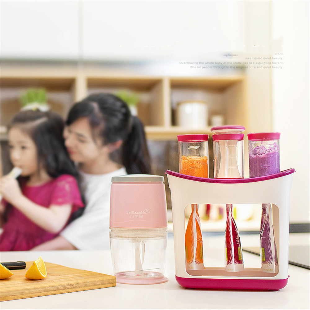 Baby Food Maker Squeeze Food Station Organic Food For Newborn Fresh Fruit Container Storage Baby Food Feeder
