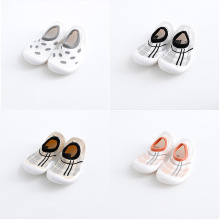 Baby Walking Shoe Breathable Baby Toddler Shoes Floor Socks Infant Toddler Shoe Leopard Pattern Cute Baby Crib Shoe