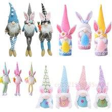 Plush-Toys Doll-Ornaments Spring Easter-Eggs Bunny Gnome Handmade Rabbit Gifts Swedishtomte