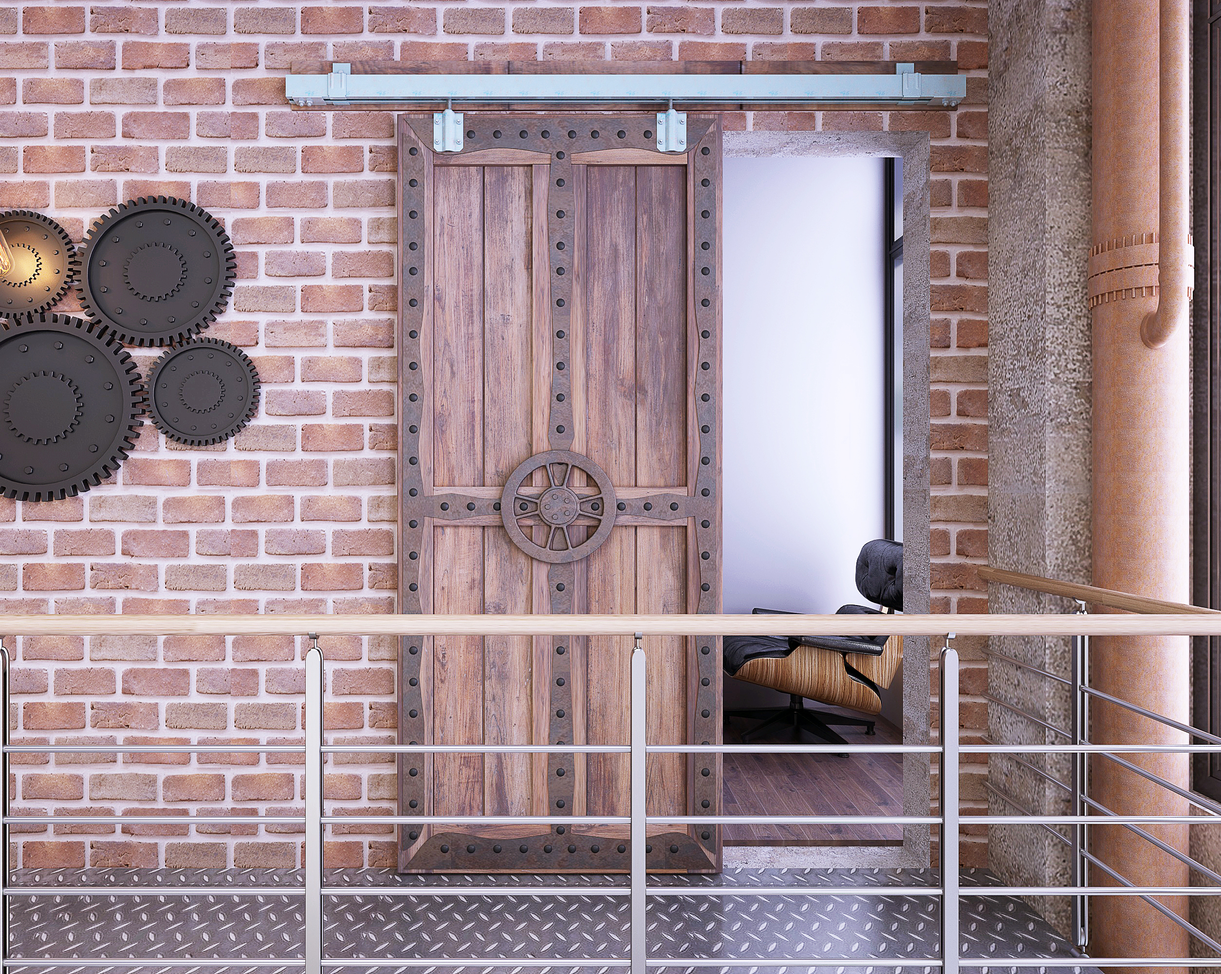 DIYHD matière première galvanisé boîte de ruban piste porte de grange porte intérieure piste Harddware pour porte de grange extérieure