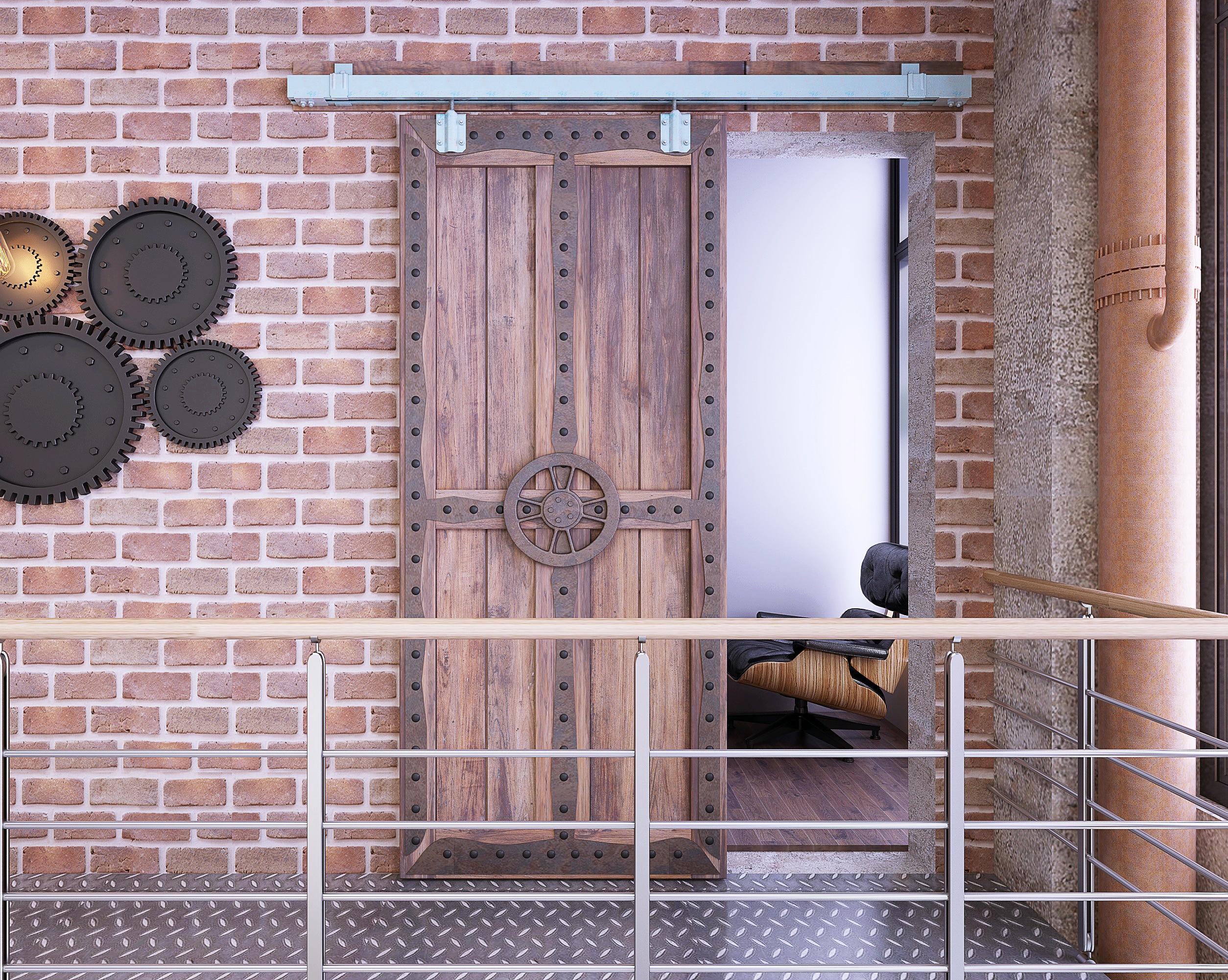 DIYHD matière première galvanisé boîte en argent piste grange porte porte intérieure piste Harddware pour porte de grange extérieure