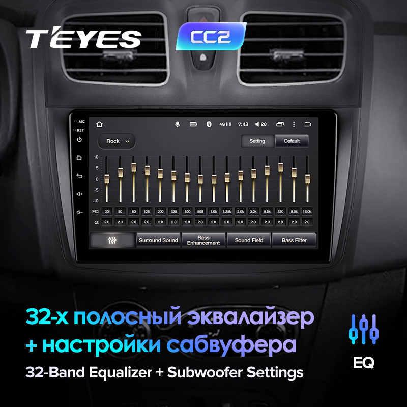 TEYES CC2 Renault Logan için 2 Sandero 2 2014 2019 sembol araba radyo multimedya Video oynatıcı navigasyon GPS Android 8.1 hayır 2din