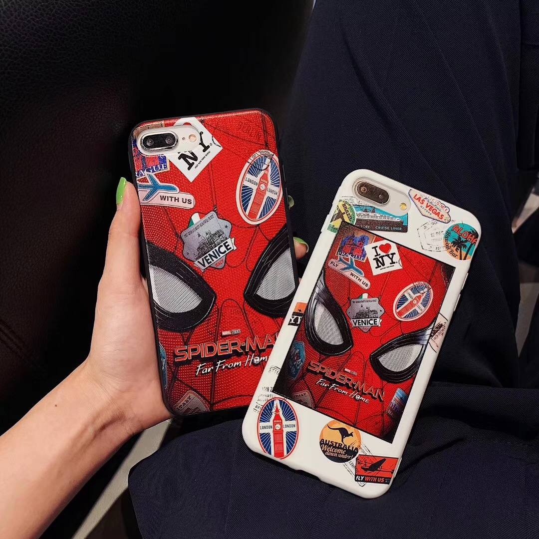 Marvel comic Deadpool Spiderman movie Phone Case For iphone Xs MAX XR X 6 6s 7 8 plus Cool Boy Paint Soft TPU back Cover Fundas in Fitted Cases from Cellphones Telecommunications