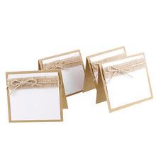 10, blanco y marrón, Vintage, Fiesta de invitados de boda, nombre, lugar, mesa para cartas, marca