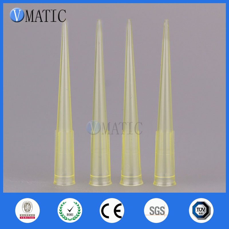 Free Shipping 1000Pcs 200ul 0.2ml Plastic Needle Liquid Dispenser Needles ID 6mm Length 50mm Plastic Dispensing Needle