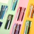 JIANWU 4 teile/satz Einfachheit Farbe Gel Stift Gerade Stift Highlighter Ball Kombination Set Stift Kreative Schreibwaren Schule Liefert
