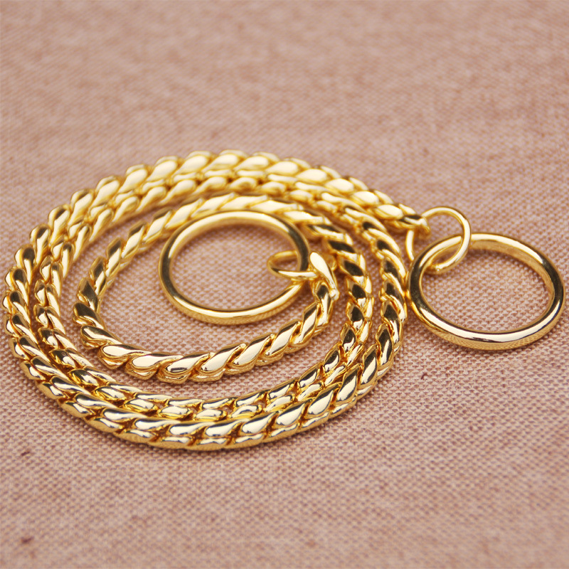 Wholesale Copper Snake Chain P Pendant Control Pendant Pet Traction Rope Game P Pendant Snake Chain P Pendant Dog Drawstring Col