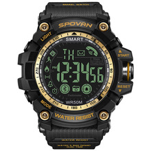 Outdoor sports watch smart multi-function luminous step counter waterproof silicone blue supports Android ios