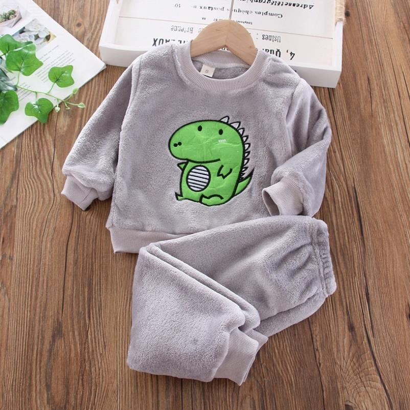 Baby Boy Winter Sets Plush Hooded Jacket 2pcs Children's Casual Outfit Suits Kids Arctic Velvet Tracksuit Toddler Girl Clothing 4