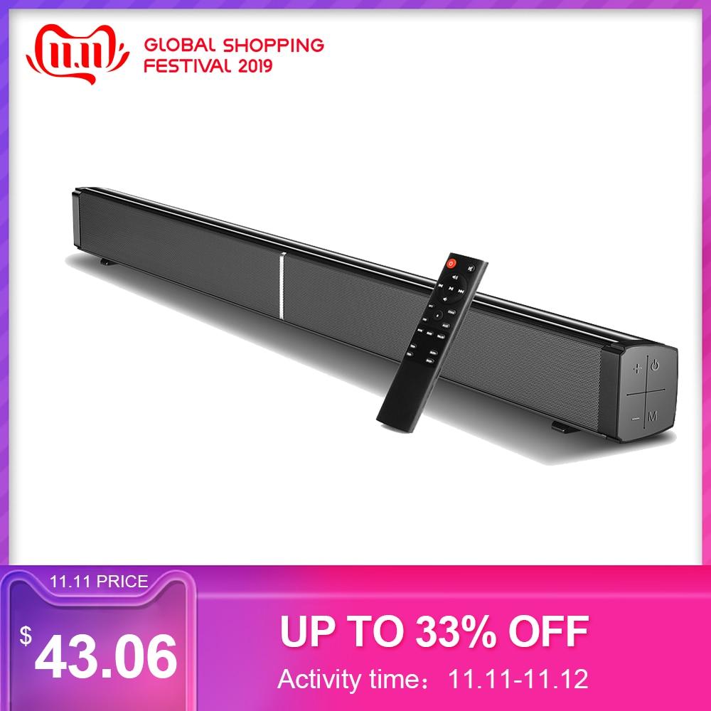 LP-09 enceinte Portable barre de son Bluetooth 5.0 haut-parleur 40W barre de son 3D Home cinéma amplificateur de son haut-parleurs télécommande AUX