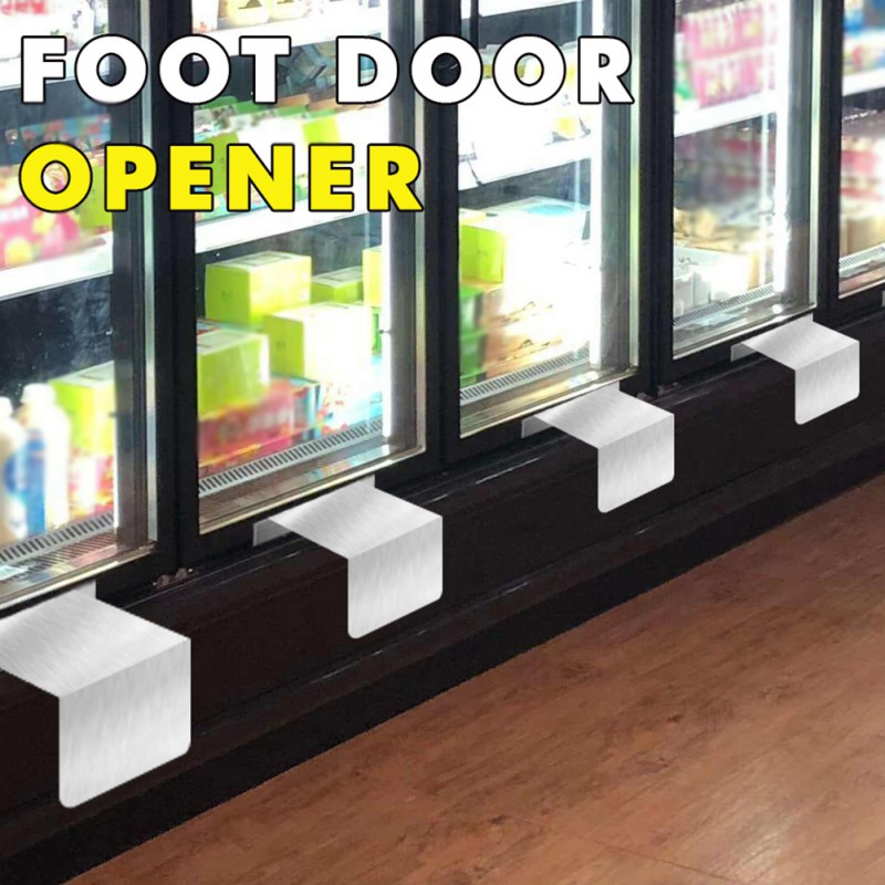 Hands Free Foot-pull Door Opener Touchless Sanitary Method For Opening Doors Steel Touch-free Foot Opening Artifact