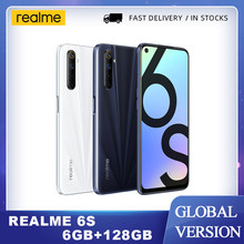 Realme 6s смартфон 6 ГБ 128 90 Гц 6,5 дюймов FHD + безрамочный экран с Дисплей 48MP Qual камеры андроид 10 4300 мА/ч, 30W смены мобильный телефон