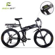 RichBit – Vélo électrique hybride pliable RT-860, de montagne, batterie li-on 36V x 250 W, 12,8 Ah, livraison européenne rapide