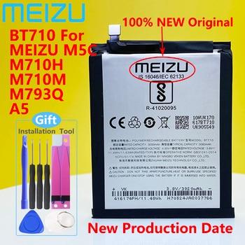 Meizu 100% Original 3060mAh BT710 Battery For Meizu M5c M710M M710H M793Q Blue A5 Phone High Quality Battery+Tracking Number meizu 100% original 3060mah bt65m battery for meizu mx6 mobile phone battery with tracking number