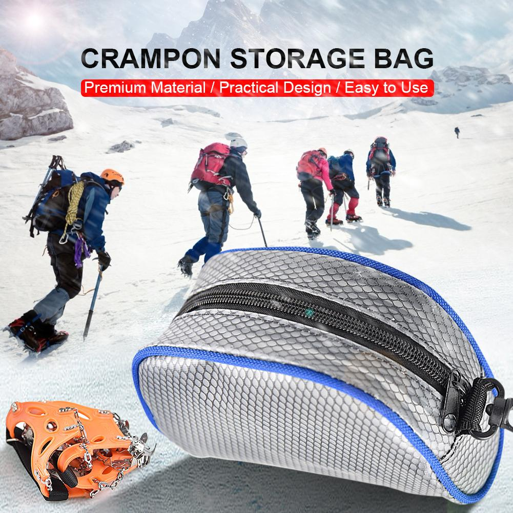 Climbing Bags Crampon Bag Outdoor PVC Storage Bag Case Organizer Container With Zipper For Mountaineering Climbing