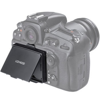 Parasol plegable para cámara LCD/Protector de pantalla emergente para Nikon D800/D810/D800E/D810A