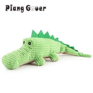 Image 1 - Krokodyl zabawki dla psów pluszowy miękki kot piszcząca zabawka zabawka dla zwierząt interaktywne ugryzienie zabawki dźwiękowe Chihuahua zabawki dla szczeniąt