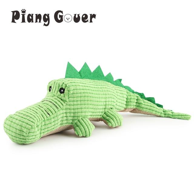 Krokodyl zabawki dla psów pluszowy miękki kot piszcząca zabawka zabawka dla zwierząt interaktywne ugryzienie zabawki dźwiękowe Chihuahua zabawki dla szczeniąt