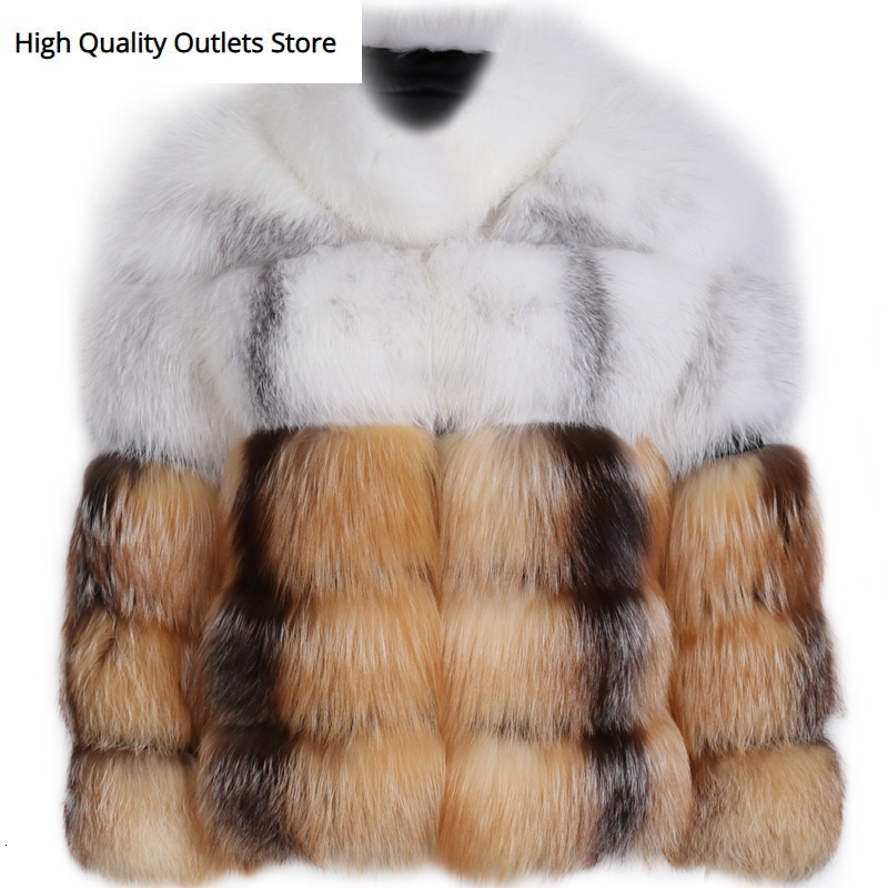 Natural Fur Jacket Women Real Fur Jacket Ladies Fox Fur Jacket