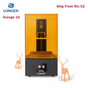 Дольше оранжевый 10 LCD 3D принтер доступный SLA металлический корпус Матрица LED дизайн предупреждение температуры быстрое охлаждение Смолы 3D п...