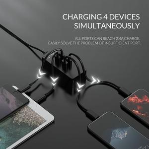 Image 4 - オリコ 4 ポート USB 充電器ミニスマート充電ドックステーション 5V2 。 4A * 4 最大出力 20 ワットのデスクトップの充電器電話パッド充電