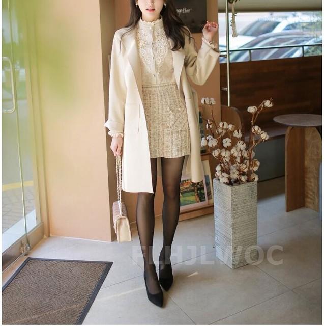 2020 Spring New Design Turtleneck Tops Women Blouses Long Sleeve Korean Style Temperament Office Lady Black Lace Vintage Shirt 6