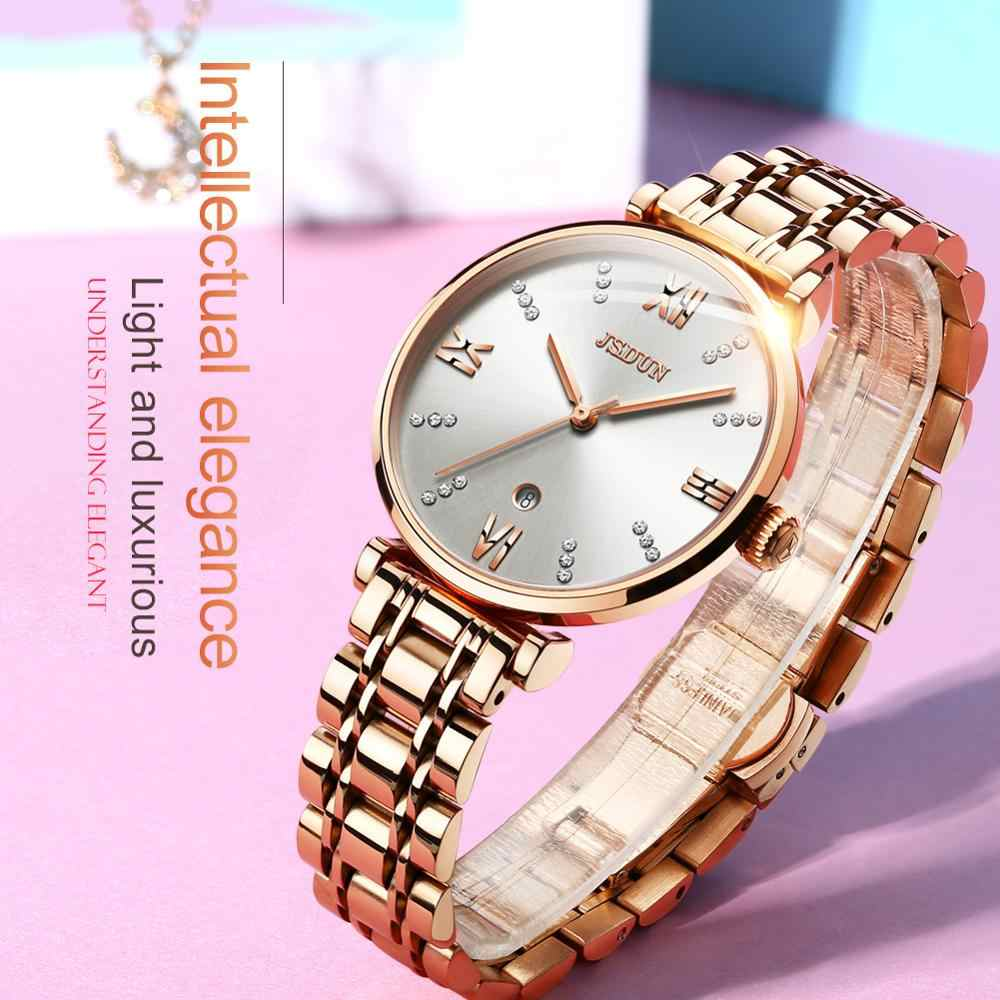 Reloj Digital de lujo para mujer, con doble pantalla, de alta gama, resistente al agua, diseño de espejo de zafiro, moda informal para banquetes