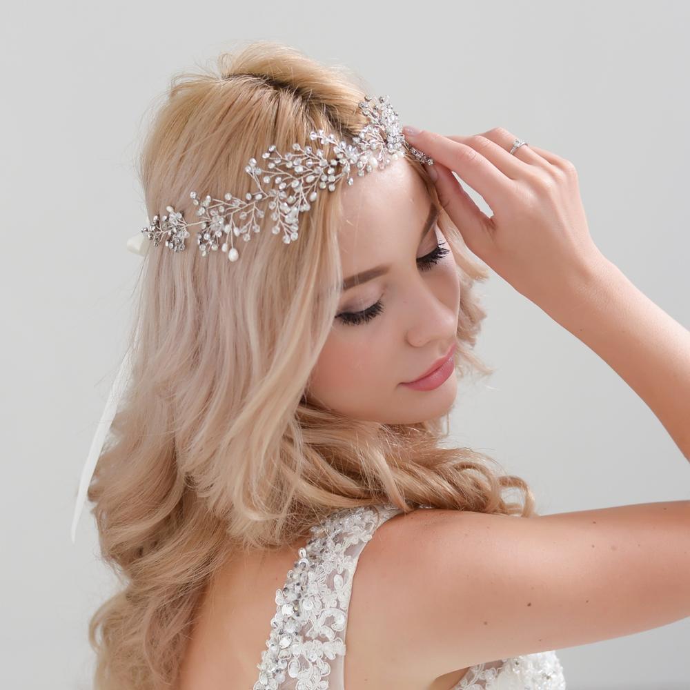 TRiXY H10-s Wedding Hair Accessories Pearls Wedding Hair Accessories Bridal Hair Ornaments Hair Jewelry Headdress Headbands