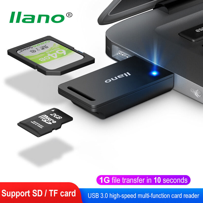 LLANO USB 3.0 Card Reader USB to SD Micro SD TF Adapter Accessories OTG Cardreader Smart Memory SD TF Card Reader for PC Laptop