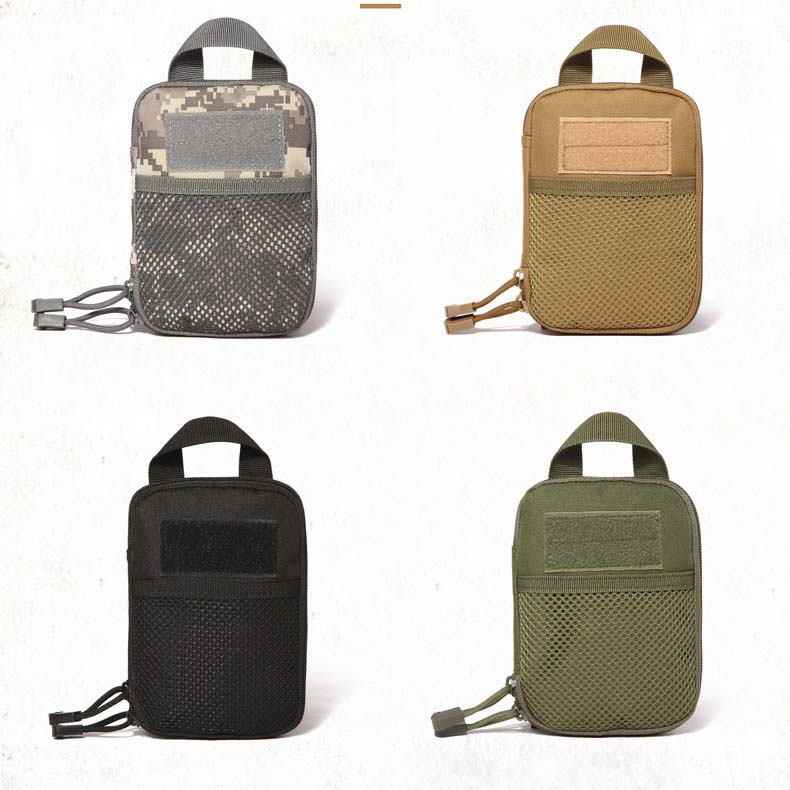 Left Right Camo Mini Tactical Molle EDC Compact Pocket Organizer Pouch