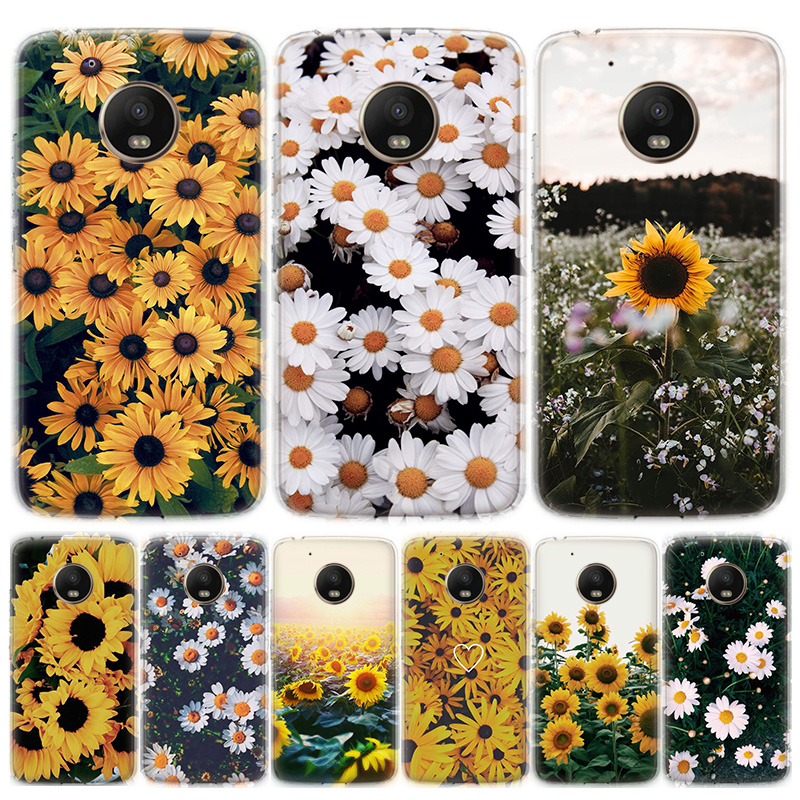 Cute Summer Daisy Sunflower Floral Flower Phone Case For MOTO Motorola G8 E4 E5 E6 G7 G6 G5S Plus Play Power ONE Action Cover Co