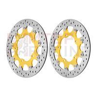 Paar Vordere Bremsscheibe für Suzuki GSR400 (2006 2010) GSR600 (2006 2007 08 2009) GSR750 (2011 2012 2013 14 2015) Gold Bremsscheibe-in Scheiben  Rotoren & Hardware aus Kraftfahrzeuge und Motorräder bei