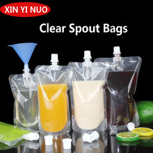 100pcs 100ml-500ml Stand up Packaging Bags Drink Spout Storage Pouch for Beverage Drinks Liquid Juice Milk Coffee Packaging Bag