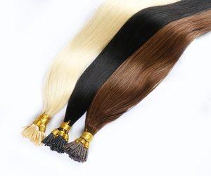 Волосы прямые машины сделаны Волосы Remy наращивание 0,8 г/шт. 50 шт./компл. прямые кератиновые человеческих волос для наращивания волос