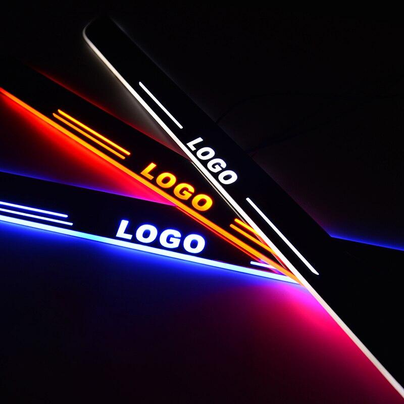 Seuil de porte LED pour Hyundai IX35 2010-2018 2019 plaque de seuil de voiture en acrylique
