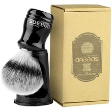 Shaving-Brush Stand Resin-Handle Black-Holder Wet-Shave Badger Synthetic with 2IN1
