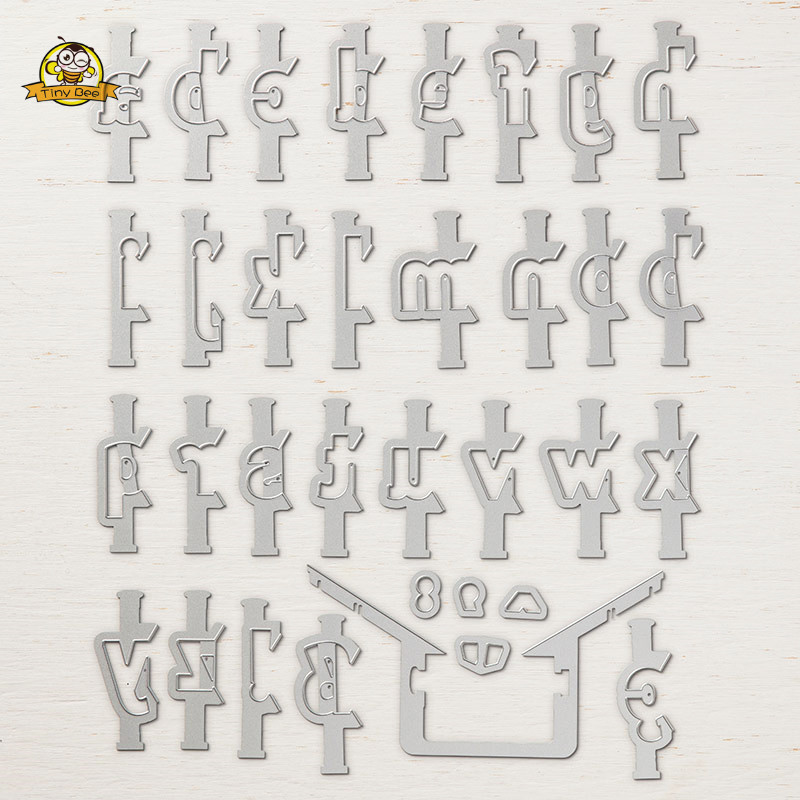 28pcs//lot 2cm Cascade Alphabet Letter Dies Stencil Metal Cutting Dies Scrapbook