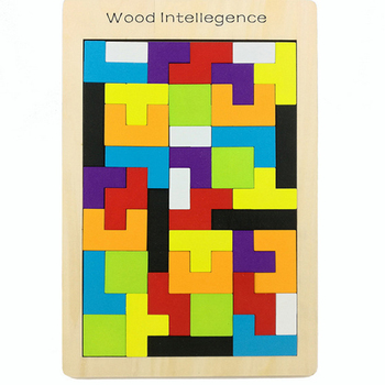 Tangram Brain Puzzle Toys for children wooden Educational Toys Kid Gift Funny Tetris Cubes Puzzles kids toy children boys girls
