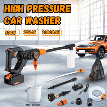 12V 200W High Pressure Car Washer Gun Handheld Auto Spray Powerful Car Washer Garden Water Jet Cleaning Tools Portable Cleaner