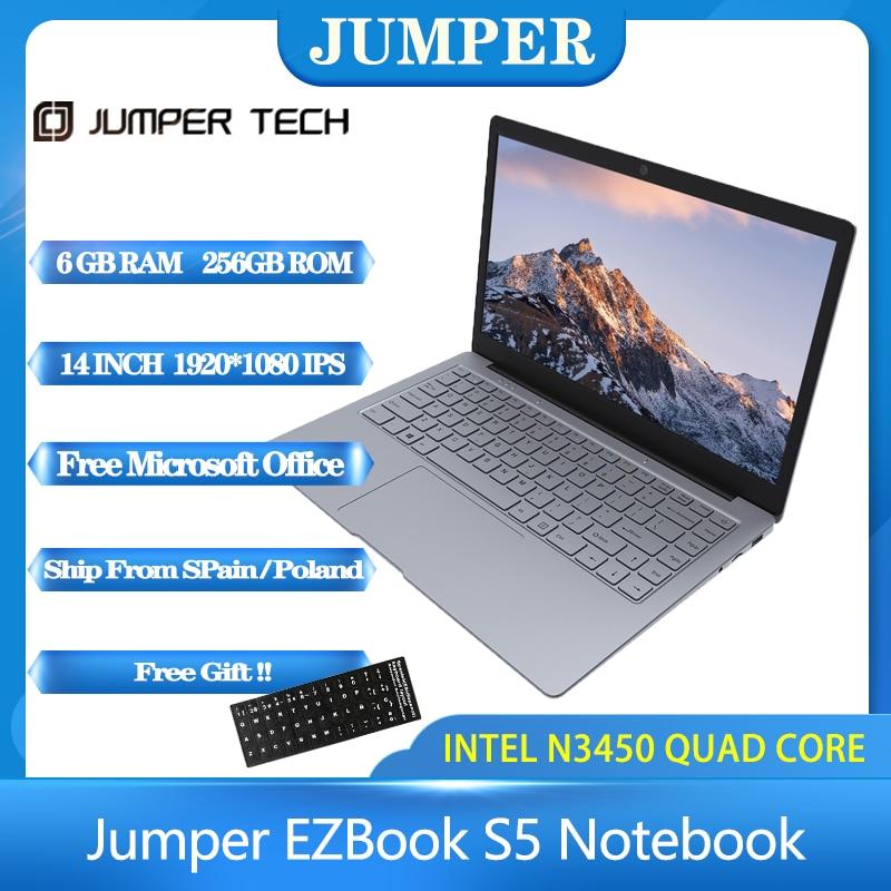 2020 новый джемпер EZbook S5 14,0 Inch 8 Гб оперативной памяти 256 ГБ SSD Процессор N3450 1920*1080 FHD IPS 1,25 кг светильник 4600 мА/ч, Windows10 Тетрадь ноутбук