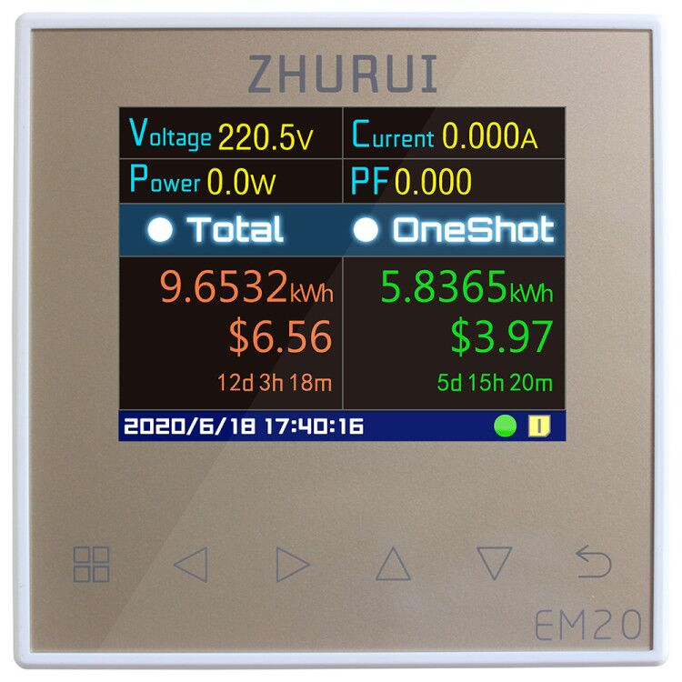 Tools : ZHURUI EM20 EM20-ER with external relay energy meter 40 60 80 120A  measure  the whole house  electricity meter  23 currency