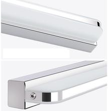 9W/12W Modern Bathroom Light Stainless Steel LED Mirror Light Makeup Wall Lamp Vanity Lighting Fixtures Mirror Lamp ZJQ0004