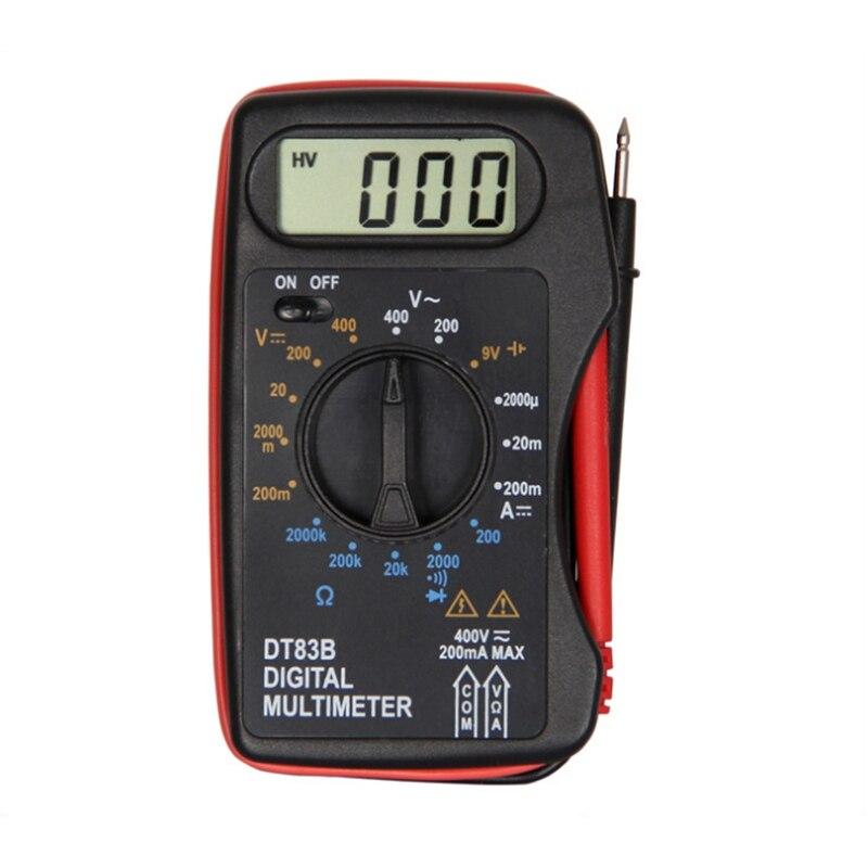 DT83B Digital Multimeter Handheld Tester AC/DC Voltage Meter Pocket Multimeter Modern Current Ohmmeter Clamp Meters Tester