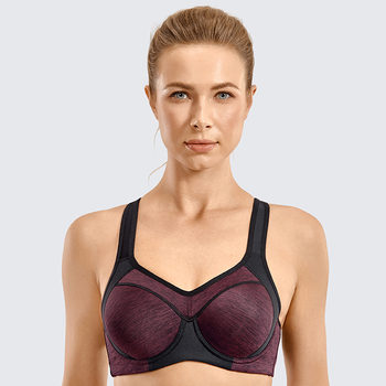 Women's High Impact Full Coverage Minimize Bounce Lightly Padded Workout Underwire Racerback Sports Bra women s high impact full coverage minimize bounce lightly padded workout underwire racerback sports bra