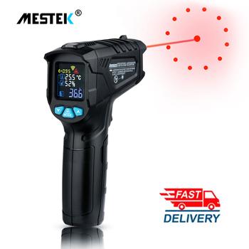 Cyfrowy termometr na podczerwień-50 ~ 600C laserowy miernik temperatury pistolet cyfrowy LCD przemysłowy odkryty laserowy pirometr termometr na podczerwień termometr stacja pogodowa czujnik temperatury termometro tanie i dobre opinie MESTEK Rohs CN (pochodzenie) IR03A IR03B 120 ° C i Powyżej DIGITAL Przemysłowe Bateria AAA M12 * 1 5 Ręczny 2 0 - 3 9 cala