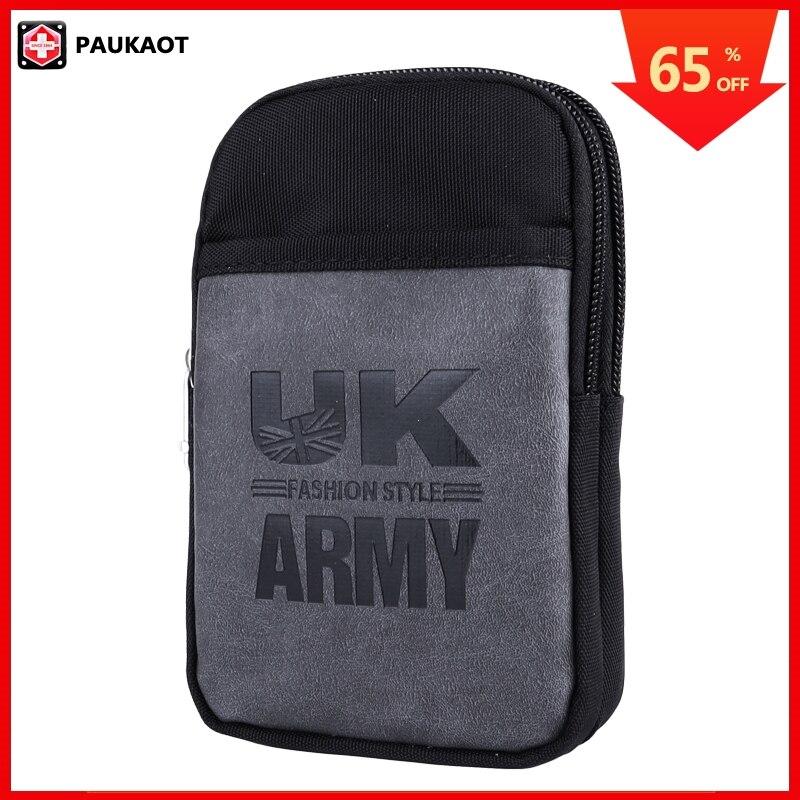 PAUKAOT Fanny Pack Waist Packs Casual Belt Bag Phone Pouch Purse Waterproof Bum Hip Bags For Men Travel Smartphone Pockets