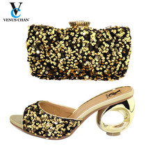 Shoe Matching Nigeria African Wedding-Italian Party Women New-Fashion Luxury for Designer