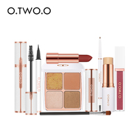 O.TWO.O 8pcs Makeup Kit High Quality With Mascara Eyeliner Lipstick Eyeshadow Palette Eyebrow Pencil Concealer Stick Lip Gloss